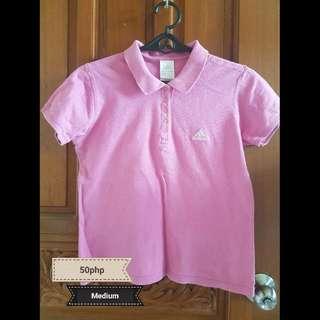 Addidas Pink Polo Shirt