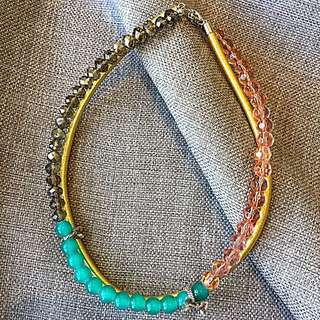 Handmade Double Strand Faceted Glass Rope Necklace
