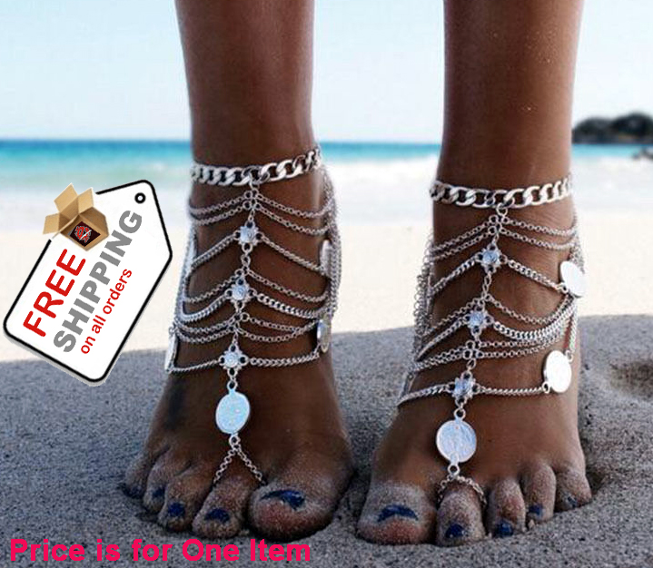 1pcs Sexy Hot Fashion Anklet Chain Bracelet Foot Barefoot Jewelry Sandal