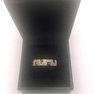 Genuine 9CT Yellow Gold Multi Stone Ring