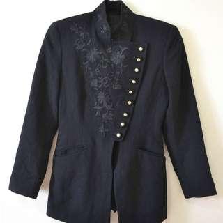 Jessica Wool Black Blazer Size USA 2/Euro30/UK 4