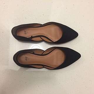 H&M Black Flats / Work Shoes / Flat Shoes