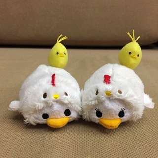 Disney Tsum Mini Donald Daisy Rooster Costume Plush Toy [In Stock]