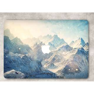 Nature // Snow Winter Blue Mountain Macbook Vinyl Decal