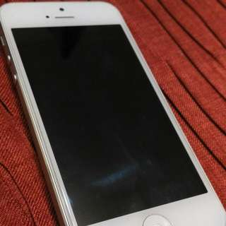 Apple iPhone 5 16G 白銀配色 八成新