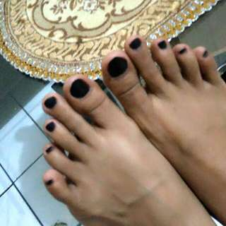 Pacar Cat Hitam / Painted Nails Black