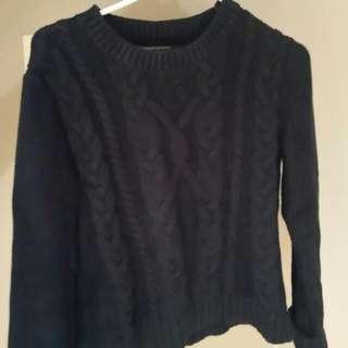 Heavy Dark Blue Sweater Size S
