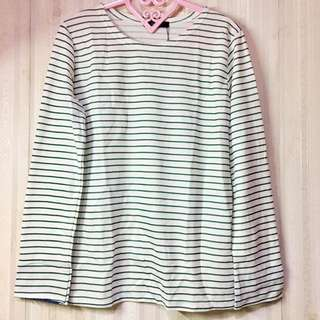 GALSTER: Simple Green & White Border Top
