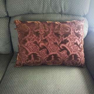 Brown Pillow With Suede