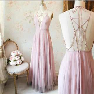 PROM DRESS BOUTIQUE 1861 TULLE BLUSH PINK