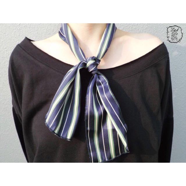 直條紋領巾(2色)