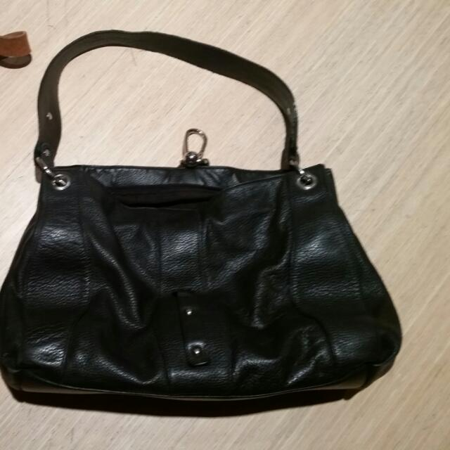 2 Leather Purses - Black and Brown