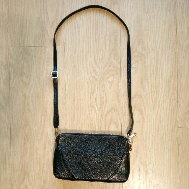 黑色真皮小包包