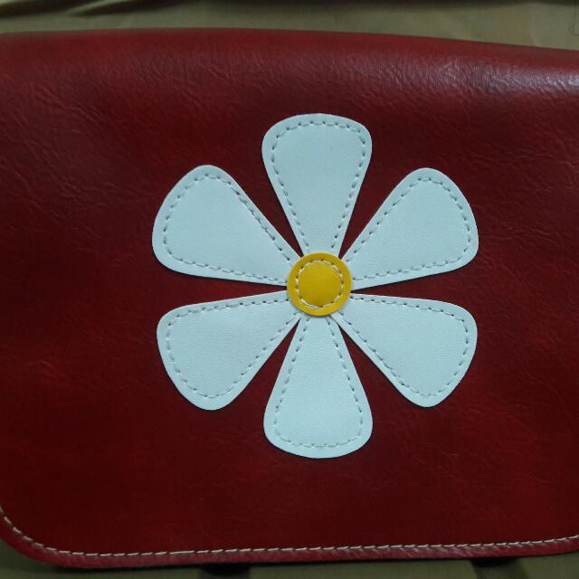 小花側背包