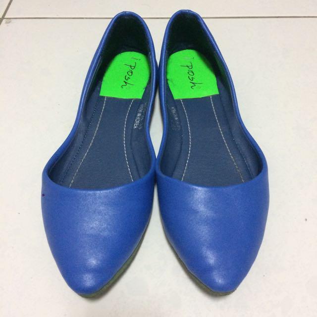 正韓 寶藍平底鞋