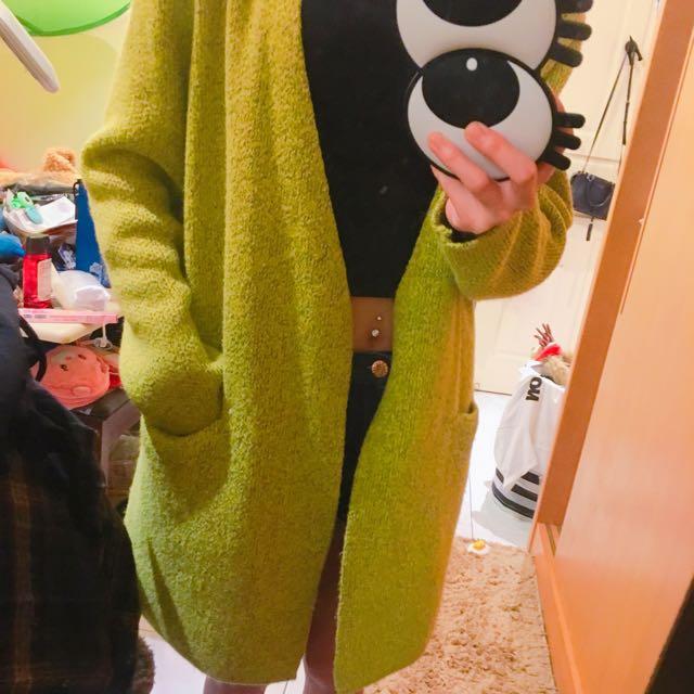 春裝 果綠色 罩衫 針織外套 #轉轉來交換