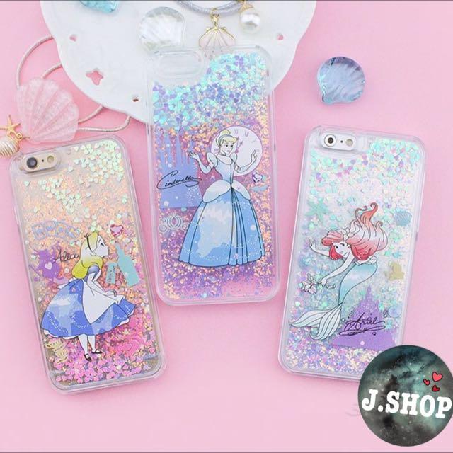 |預購品| iphone 迪士尼公主液態流沙手機殼