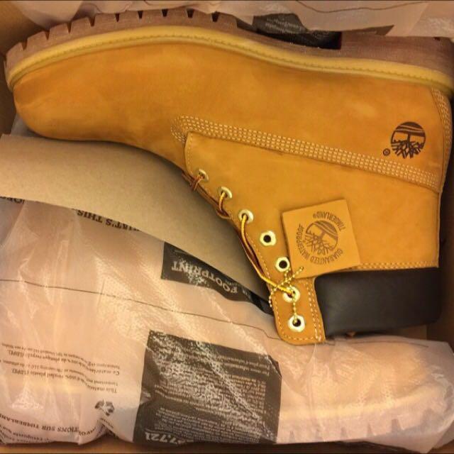 全新 Timberland 10061 M版 男12號 黃靴