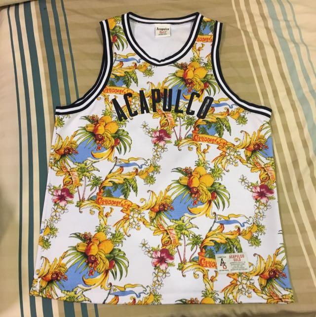 Acapulco gold 網眼 球衣 背心 滿版 m號 9.5成新