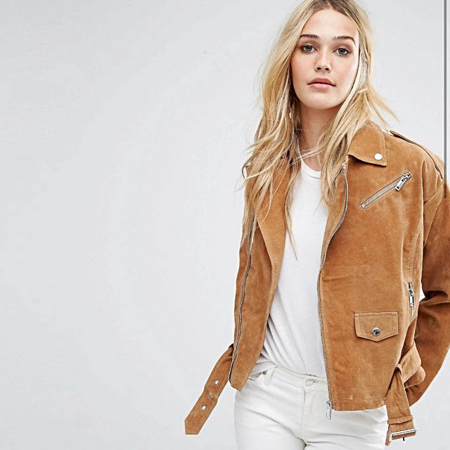 Asos Noisy May Real Suede Jacket
