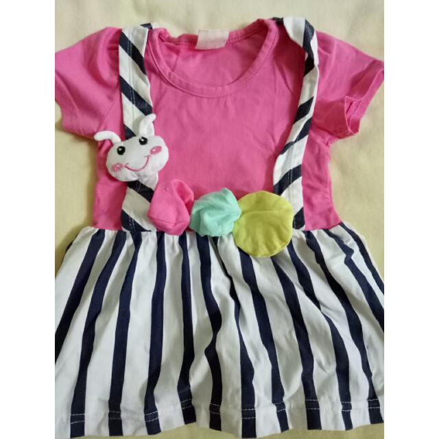 Baby Pink Strip Dress