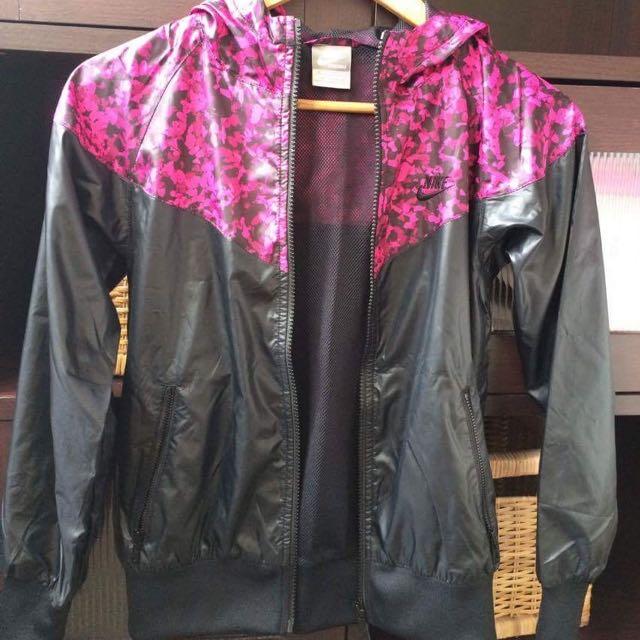 Black/ Pink Wind runner