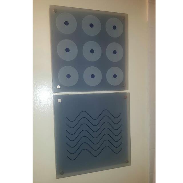 Blue Glass Wall Art