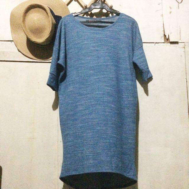Blue Long-Back Dress