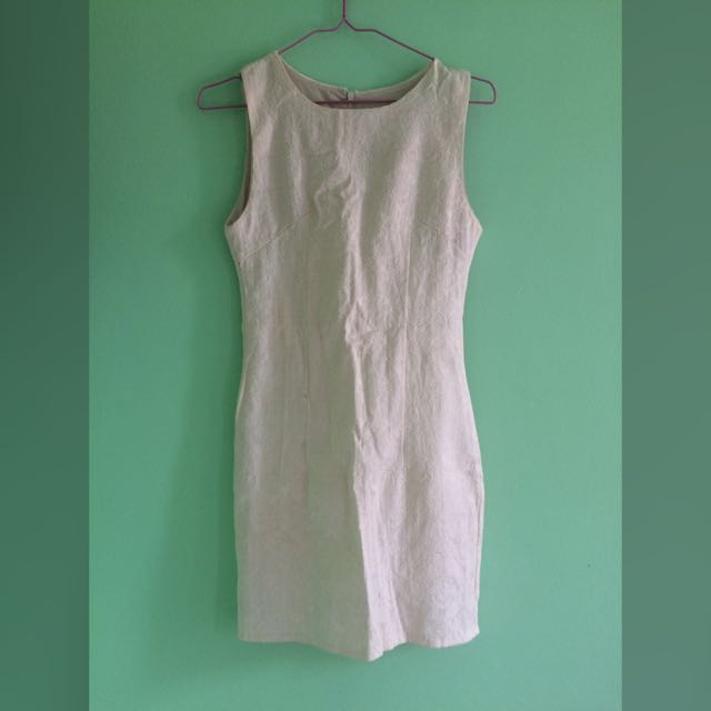 Broken White Bodycon Dress