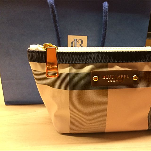Burberry Blue Label Cosmetic Pouch, Luxury, Bags   Wallets on Carousell 28686fdcae