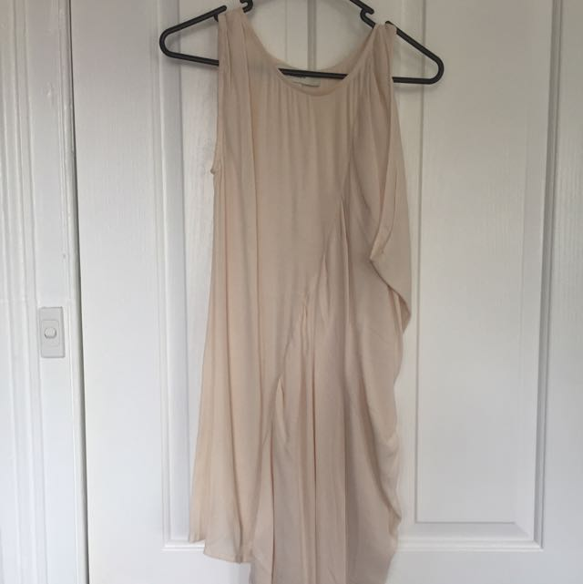 Cameo Shift Dress With Waterfall Drape Size XS