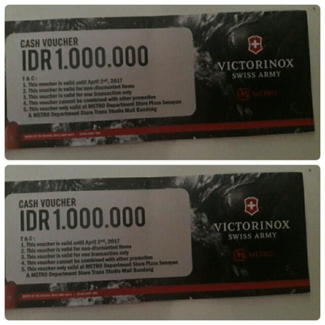 Cash VOUCHER Rp 1.000.000 (VICTORINOX) SWISS ARMY