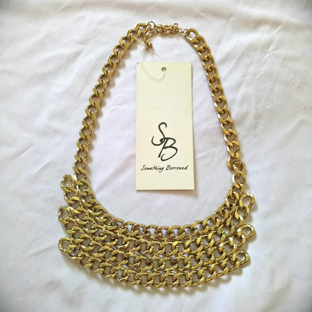 (NEW) Multi Layer Chain Collar Necklace