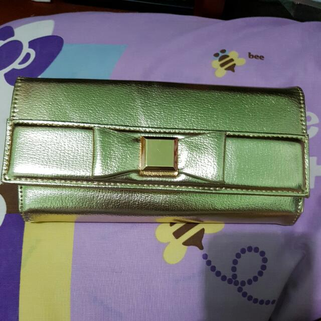 Charles And Keith Wallet Gold