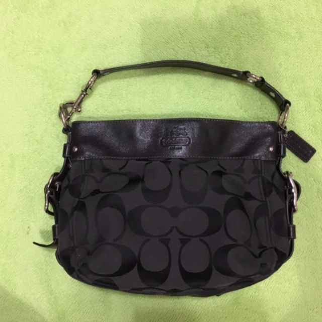 adef16de1552f Coach Signature Black Zoe Hobo Handbag (Large)