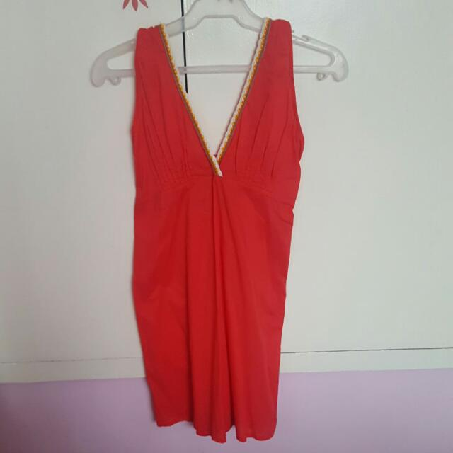 Coco Cabana Red Cover Up Dress