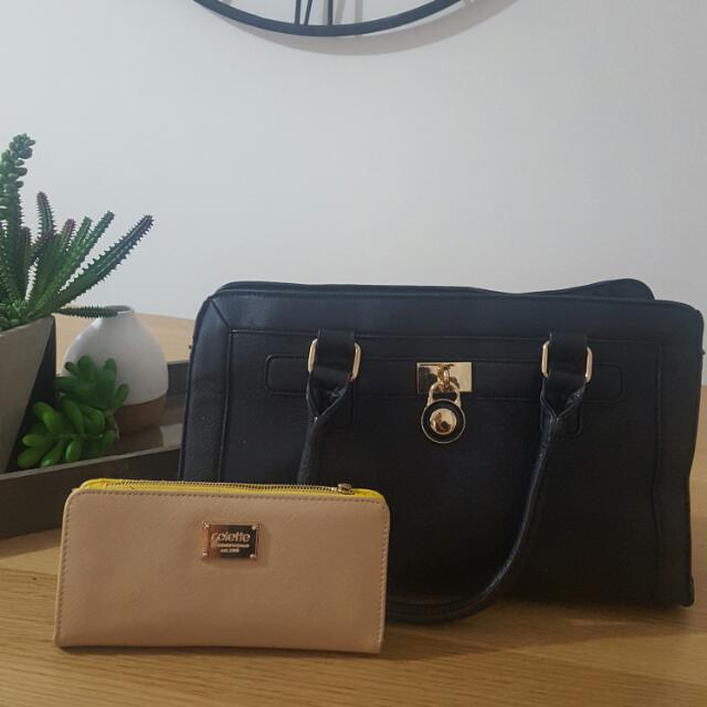 Colette Bag And Wallet Set