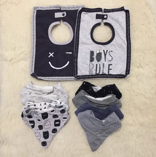 Cotton On Baby Boy/toddlers Dribble Bibs