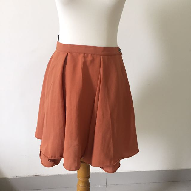 Flare Skirt Brown