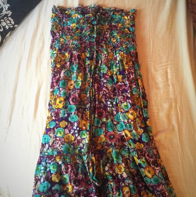 Floral Dress (tube Type)