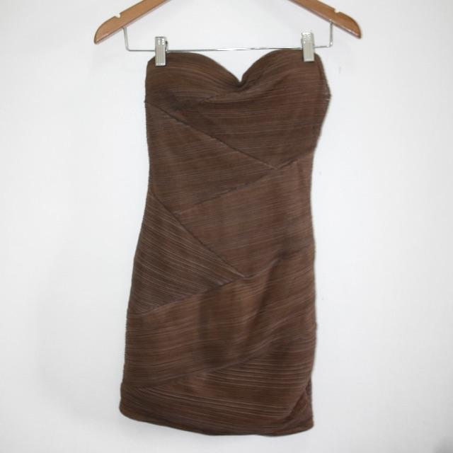 FOREVER21 Brown Tube Dress