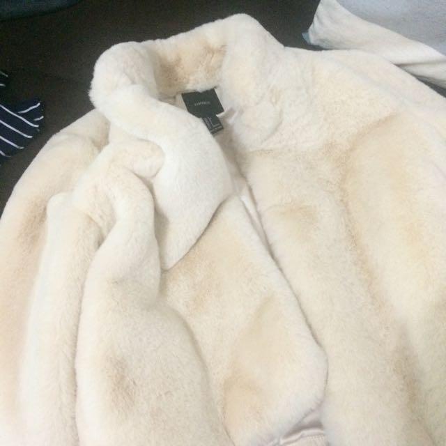 Forever21 White Fur