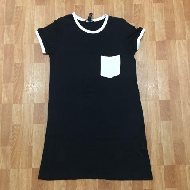 Forever 21 Black And White Tshirt Dress