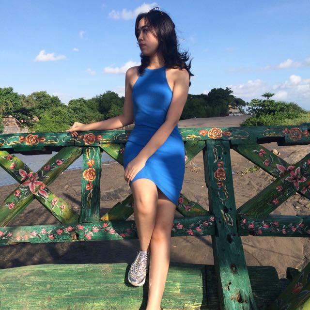 forever 21 Blue Dress Stretch