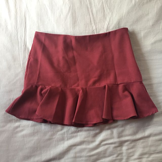FOREVER 21 Maroon Mermaid Skirt