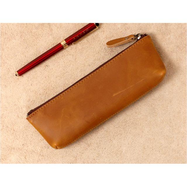 真皮手工筆袋文具袋Genuine leather pencil case