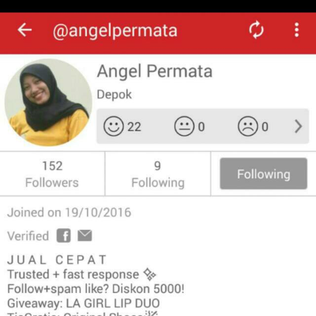 giveaway from @angelpermata
