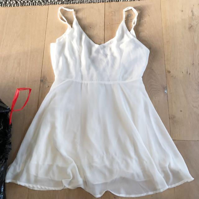 'Glamorous' White Silk Dress