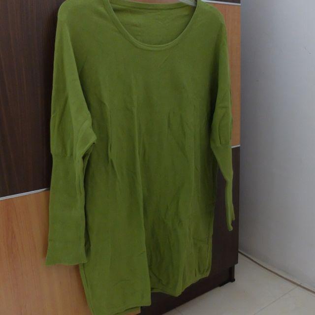 Green Loose Sweater Longsleeve (dipakai 3x)