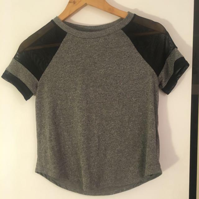 H&M Mesh Insert Tshirt